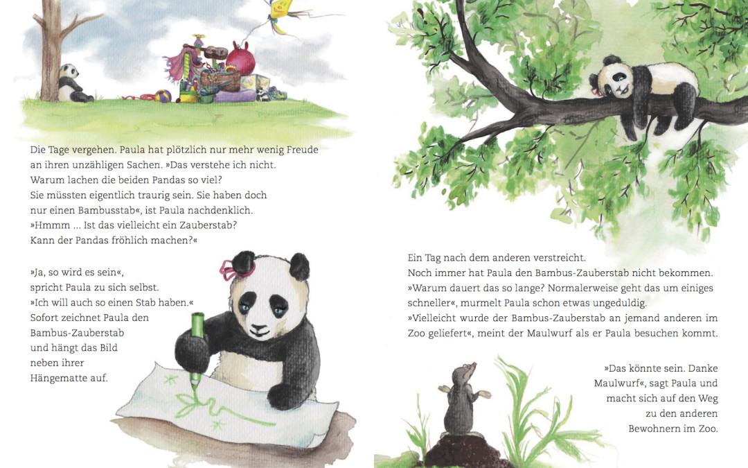 Paula Panda - Der Bambus-Zauberstab - Seite 10 & 11 - ©PaulaPanda.org