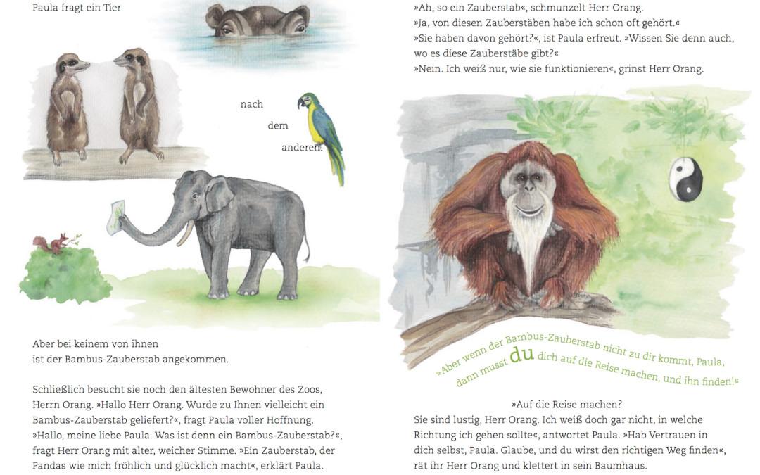 Paula Panda - Der Bambus-Zauberstab - Seite 12 & 13 - ©PaulaPanda.org