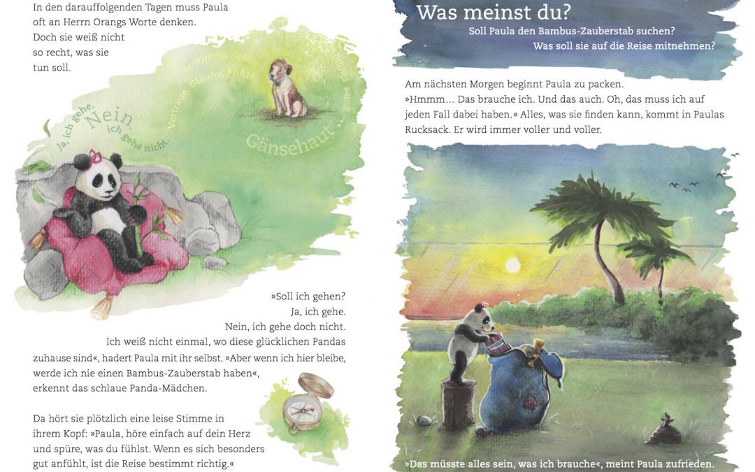 Paula Panda - Der Bambus-Zauberstab - Seite 14 & 15 - ©PaulaPanda.org