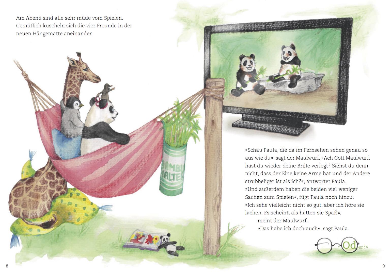 Paula Panda - Der Bambus-Zauberstab - Seite 8 & 9 - ©PaulaPanda.org